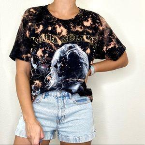 "Custom Bleach Crop Band T-Shirt ""In This Moment"""